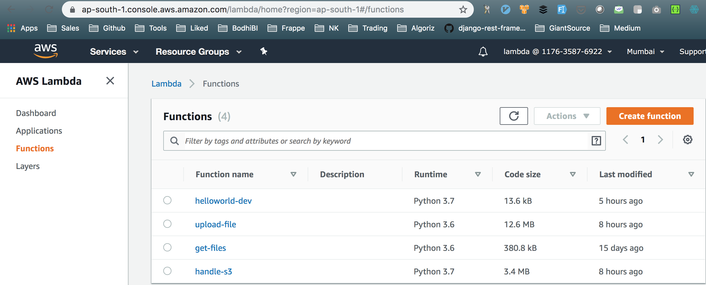 Getting started with AWS Lambda using Python
