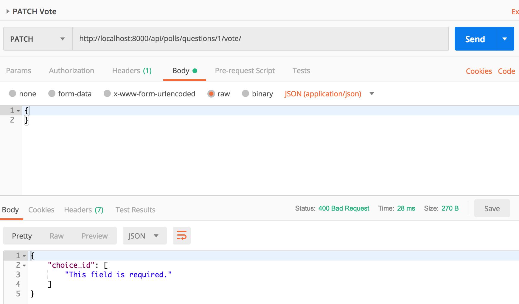 Django polls api using Django REST Framework
